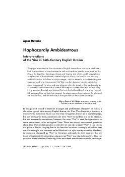 In this paper I intend to examine a unique and problematic character,