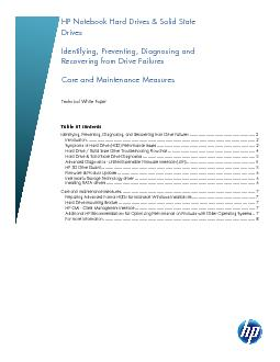 Technical White Paper  Table of contents Identifying, Preventing, Diag
