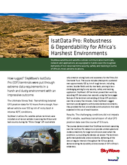 How rugged? SkyWave's IsatData