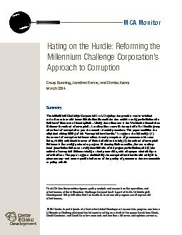 The Millennium Challenge Corporation (MCC) is a US agency that provide