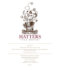 90% of Hatter goodies are baked here, on premises.Hatters has a philos