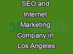 SEO and Internet Marketing Company in Los Angeles