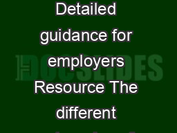 April  Resource The different types of worker Detailed guidance for employers Detailed guidance for employers Resource The different categories of worker Entitled workers Aged  Working in UK Earning b
