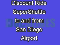 UCSD Online Discount Ride SuperShuttle to and from San Diego Airport
