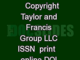 CriticalReviewsinFoodScienceandNutrition    Copyright Taylor and Francis Group LLC ISSN  print   online DOI