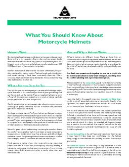 Helmets WorkMost activities have their own suitable protective gear an