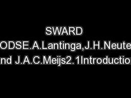SWARD METHODSE.A.Lantinga,J.H.Neuteboom and J.A.C.Meijs2.1Introduction