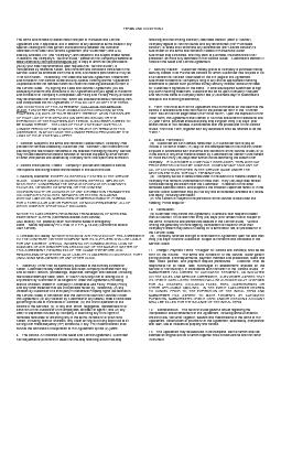 TERMS AND CONDITIONS  The terms and conditions stated herein are part