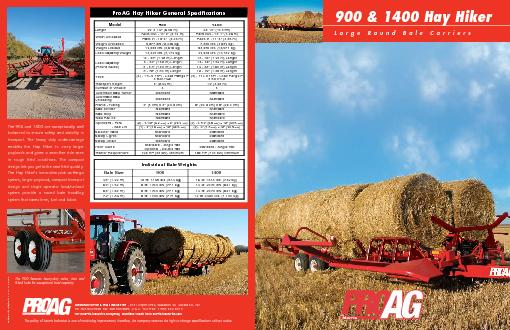 900 & 1400 Hay HikerLarge Round Bale Carriers