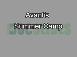 Avantis Summer Camp