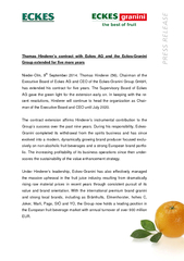 Thomas Hinderer's contract with Eckes AG and theckes