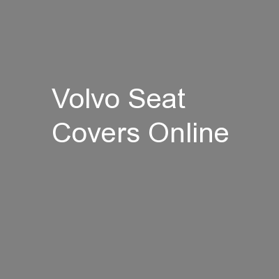 Volvo Seat Covers Online
