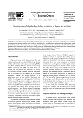 Sensing controlled pulse key-holing condition in plasma arc welding J