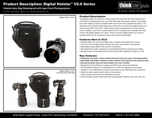 Product Description:The Digital Holster V2.0 series is a direct result