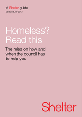 Homeless?Read this