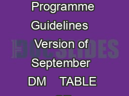 RXEOHDVWHUV Degree in Management Programme Guidelines   Version of  September  DM    TABLE OF CONTENTS Page
