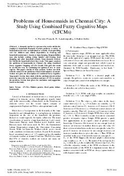 Study Using Combined Fuzzy Cognitive Maps A. Praveen Prakash, N. Laksh