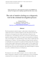 Study from Interviews with Criminal Investigators from KRIPOS, the Inf