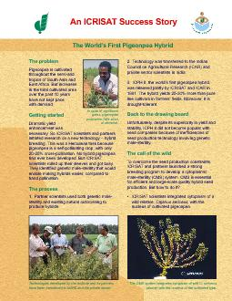 necessary. So ICRISAT scientists and partnershad ever been developed.