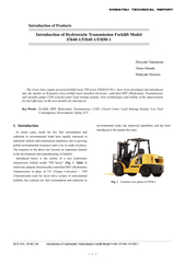 Introduction of Hydrostatic Transmission Forklift