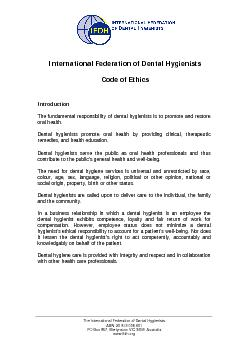 The International Federation of Dental Hygienists