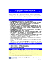 HYPERTONIC SALINE SOLUTION Instructions For Self-Preparation for Patie