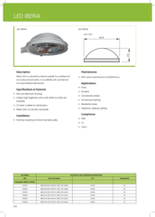 Iberia LED is a versatile luminarie suitable for architectural and urb
