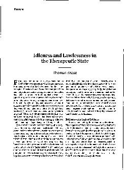 Feature Idleness and Lawlessness in the Therapeutic State Thomas  ...