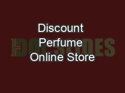 Discount Perfume Online Store