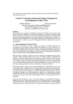 To be presented at 10th International Conference on Human-Computer Int