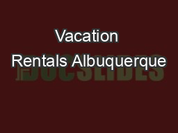 Vacation Rentals Albuquerque