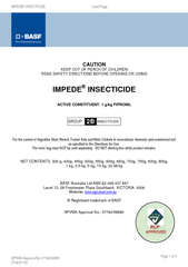 IMPEDENSECTICIDE                                      Label Page