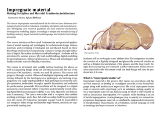 The course impregnate material stands in the intersections between tec