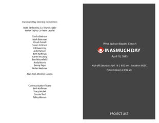 Inasmuch Day Steering Committee: