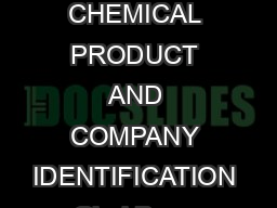 Material Safety Data Sheet Glad Bags Document MSDS  August   Page of  CHEMICAL PRODUCT AND COMPANY IDENTIFICATION Glad Bags Manufactured for The Glad Products Company  Broadway Oakland CA  Telephone