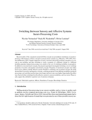 Switching Between Sensory and Affective SystemsNicolas VermeulenPaula