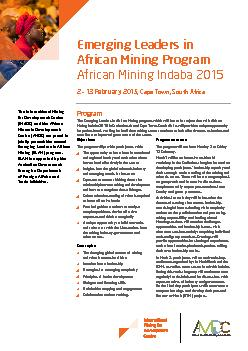 The International Mining for Development Centre (IM4DC) and the Africa