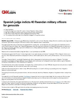 Story Highlights  A Spanish judge has indicted 40 current or former Rw