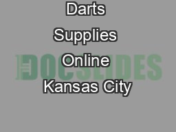 Darts Supplies Online Kansas City