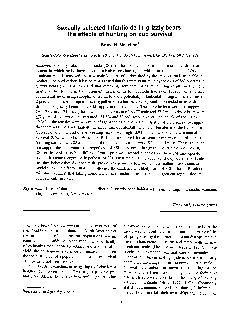 Sexually selected infanticide in grizzly bears: the effects of hunting