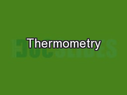 Thermometry