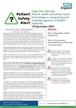 www.england.nhs.uk/patientsafetyIngestion of button batteries can caus