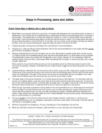 Steps in Processing Jams and Jellies Follow These Steps in Making Jam or Jelly at Home