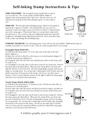 Self-Inking Stamp Instructions & TipsUSING YOUR STAMP:  shipped in the