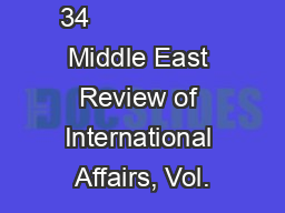 34                  Middle East Review of International Affairs, Vol. PowerPoint PPT Presentation