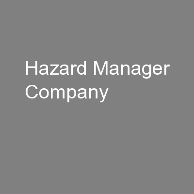 Hazard Manager Company