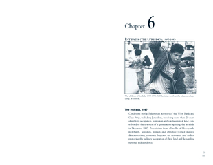 Chapter NTIFADA (THE UPRISING), 1987-1993The intifada, 1987Conditions