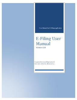 eFiling (Notice of Intimation)