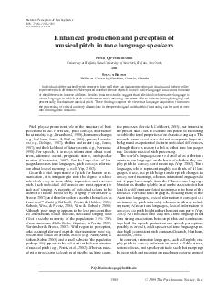 Pitch plays a prominent role in the structure of both speech and music