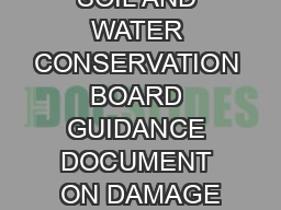 VIRGINIA SOIL AND WATER CONSERVATION BOARD GUIDANCE DOCUMENT ON DAMAGE
